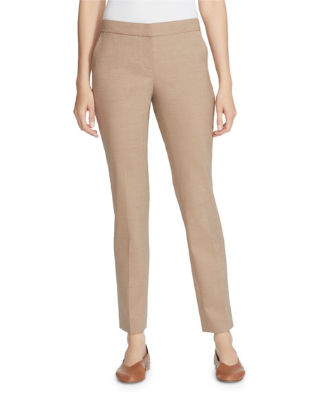 Lafayette 148 New York Manhattan High Line Suiting Slim Wool Pants