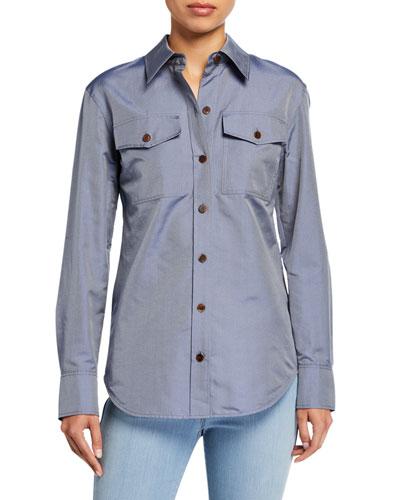 Briar Genteel Shirting Button-Down Blouse