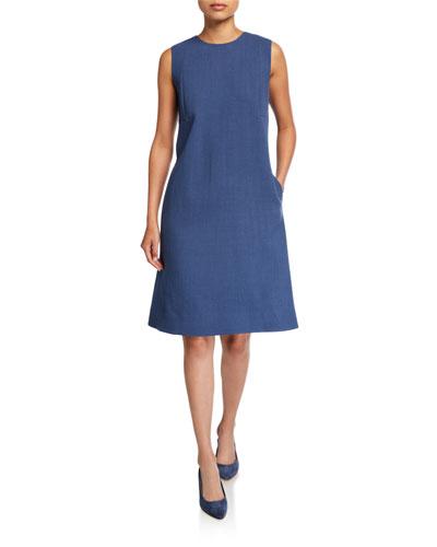 Morganna Nouveau Crepe Sleeveless Dress