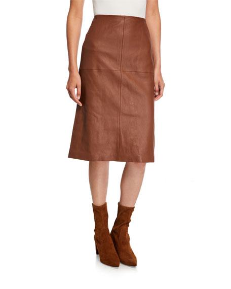 Lafayette 148 New York Pascoe Full Grain Lambskin Leather Skirt