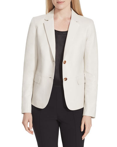 Thatcher Glazed Weightless Lambskin Leather Blazer
