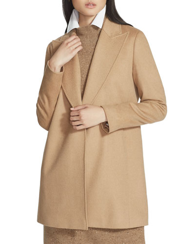 Kourt One-Button Camel Hair Jacket