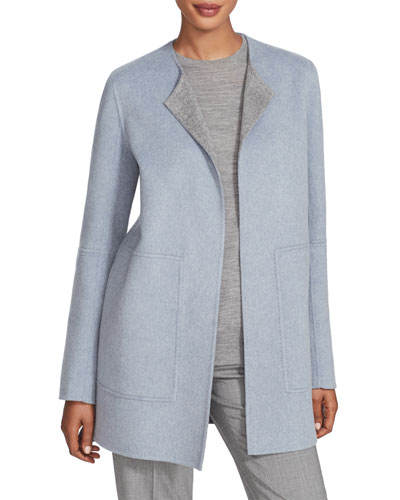 Rowena Two Tone Double Face Reversible Wool Jacket