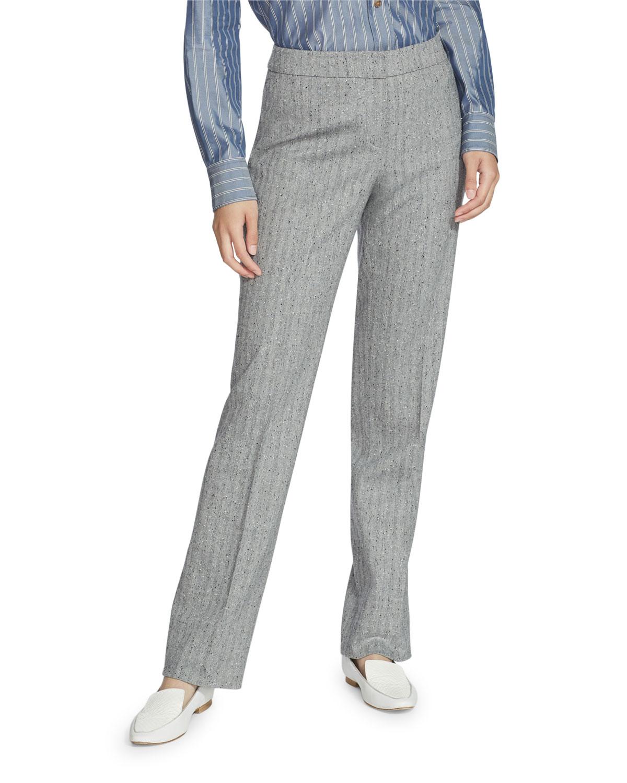 Lafayette 148 Pants BARROW SPECKLED HERRINGBONE PANTS