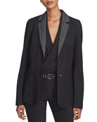Lafayette 148 New York Rozella Dual Weave Suiting