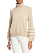 Lafayette 148 New York Cashmere Turtleneck Sweater with