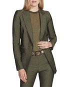 Lafayette 148 New York Atticus Gateway Cloth One-Button