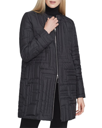 Abdulla Alpine Outerwear Coat with Embroidered Detail