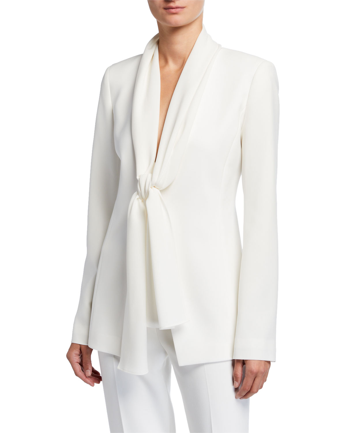 Lafayette 148 Jackets KENDRIA CREPE JACKET WITH GEORGETTE TIE COMBO