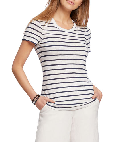 Petite Seaside Resort Striped Tee