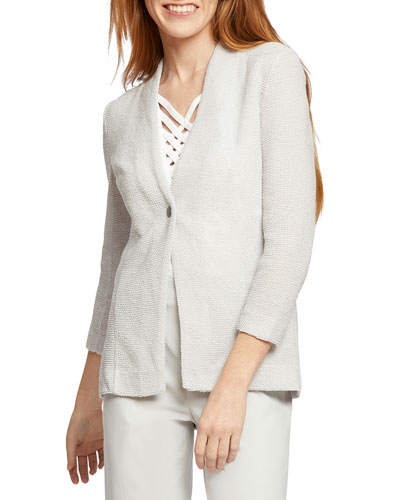 Plus Size One For All One-Button Jacket