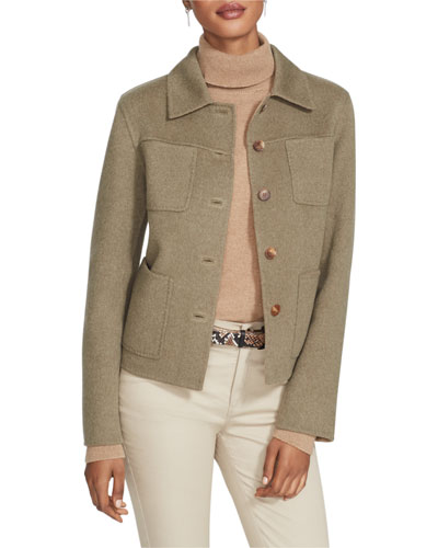 Tomasa Two-Tone Double-Face Wool/Cashmere Jacket
