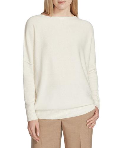 Cashmere Bateau-Neck Sweater