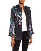 Bella Tu Avery Open-Front Jacket with Bead Embellished