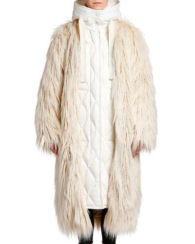 Bouregreg Oversized FauxFur Coat w/ Underlay