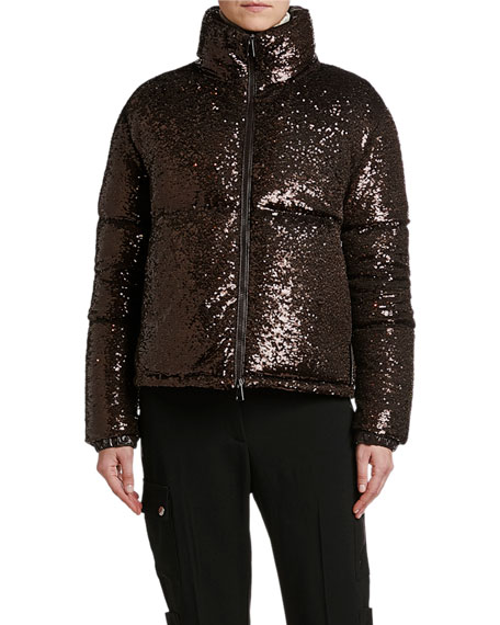 Moncler Rimac Sequined Puffer Jacket
