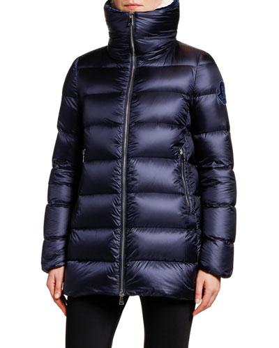 Torcon Contrast-Collar Puffer Coat