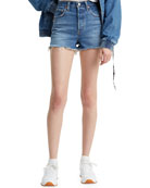 Levi's Premium Ribcage High-Rise Cutoff Shorts
