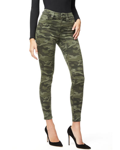 Good Waist Camo-Print Skinny Jeans - Inclusive Sizing