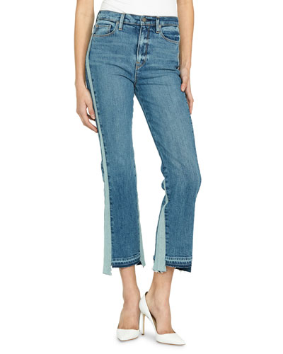 Holly High-Rise Cropped Flare-Leg Jeans