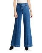 FRAME Metropolitan Wide-Leg Denim Pants