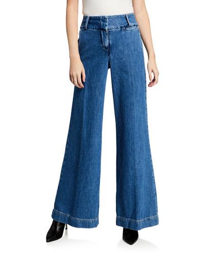 Metropolitan Wide-Leg Denim Pants