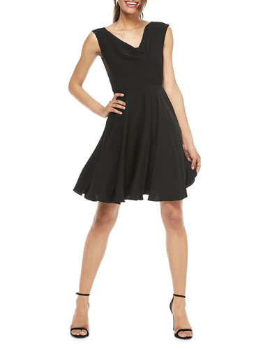 09fceb0800be Quick Look. Gal Meets Glam Collection · Cowl-Neck Sleeveless Fit-&-Flare  Dress. Available in Black