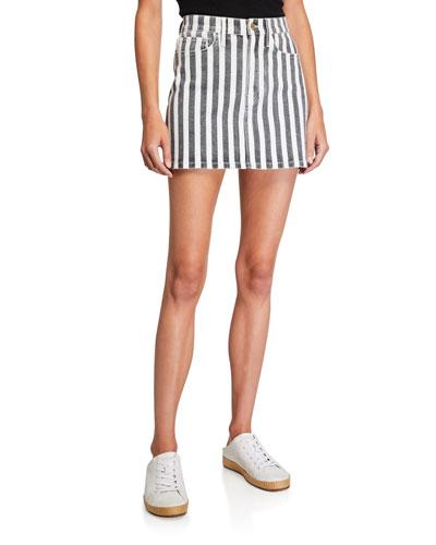Le Mini Beatnik Stripe Skirt