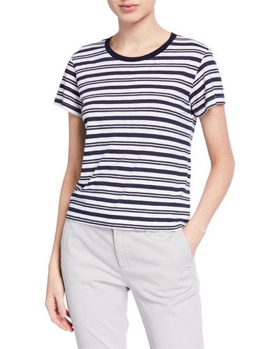 Mia Striped Short-Sleeve Tee