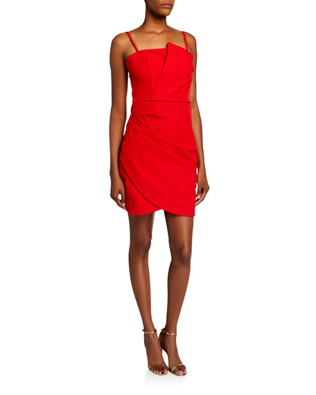 Parker Pippa Sleeveless Ruched Stretch Crepe Mini Dress