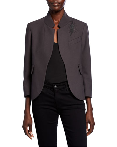 Verys Embellished Open-Front Jacket
