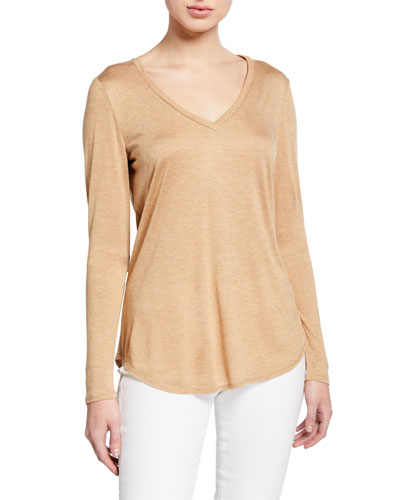Kenneth V-Neck Featherweight Jersey Top