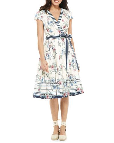 efcc24ccac Tie Waist Striped Dress | Neiman Marcus