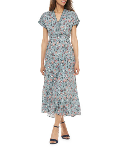 Empire-Waist Floral Maxi Dress