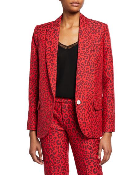 Zadig & Voltaire Viking Leopard-Print Jacquard Jacket