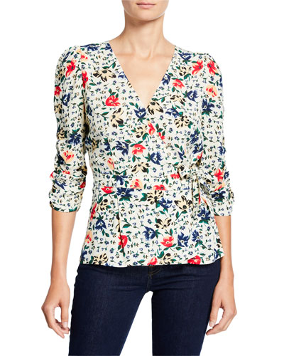 Paco Floral Cross-Front Top