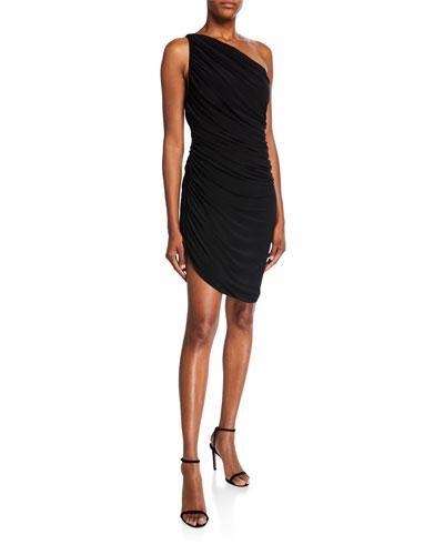 Diana One-Shoulder Ruched Mini Dress