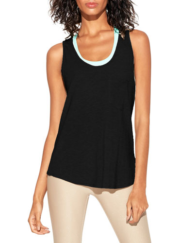 Jay Scoop-Neck Cutout-Back Tank