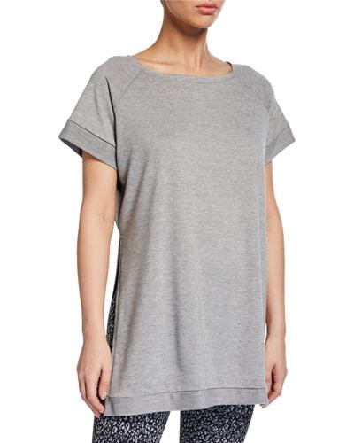 Split Raglan-Sleeve Sweatshirt
