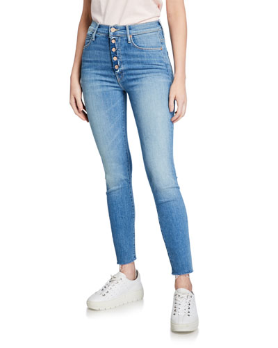 The Fly Cut Stunner Ankle Fray Skinny Jeans