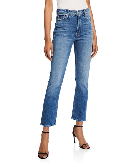 MOTHER The Dazzler Cropped Straight-Leg Jeans