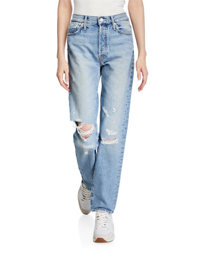 The Trickster Straight-Leg Distressed Jeans