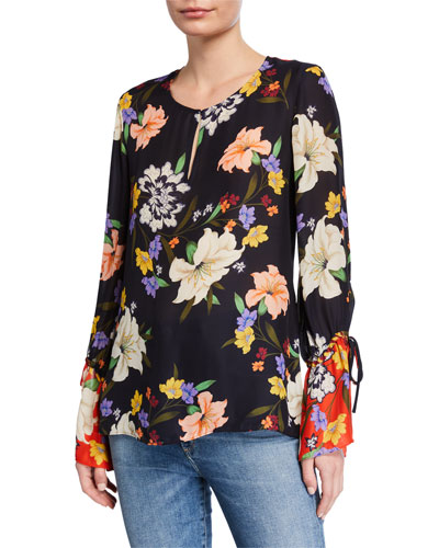Jules Floral Long-Sleeve Blouse