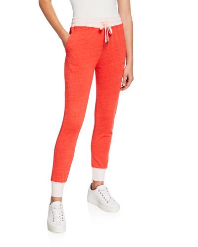 Colorblock Tapered Drawstring Sweatpants