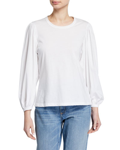 Heather Blouson-Sleeve Tee