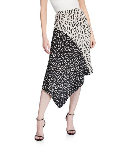 Natalie Asymmetrical Colorblock Skirt