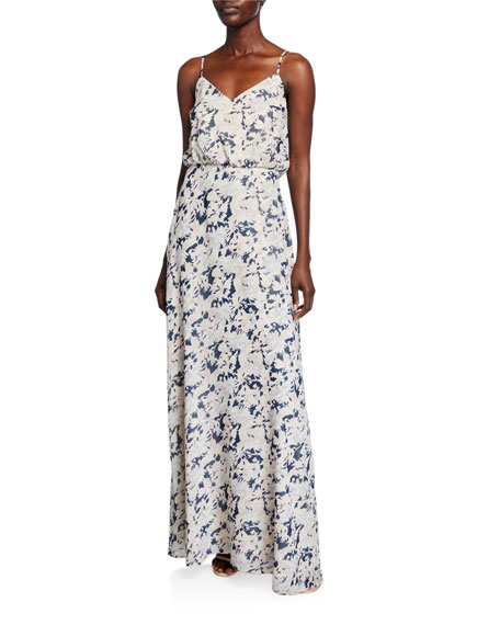 WAYF The Savannah Blouson Cami Gown