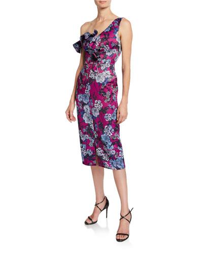 af36c91611 Quick Look. flor et.al · Ella Floral-Print Asymmetric-Sleeve Cocktail Dress