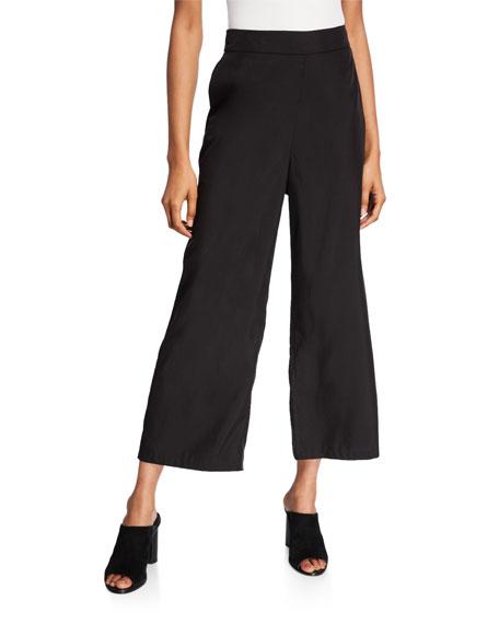 Eileen Fisher Petite Sandwash Wide-Leg Ankle Pants