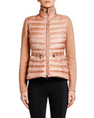 Moncler Knit Cardigan w/ Puffer Front